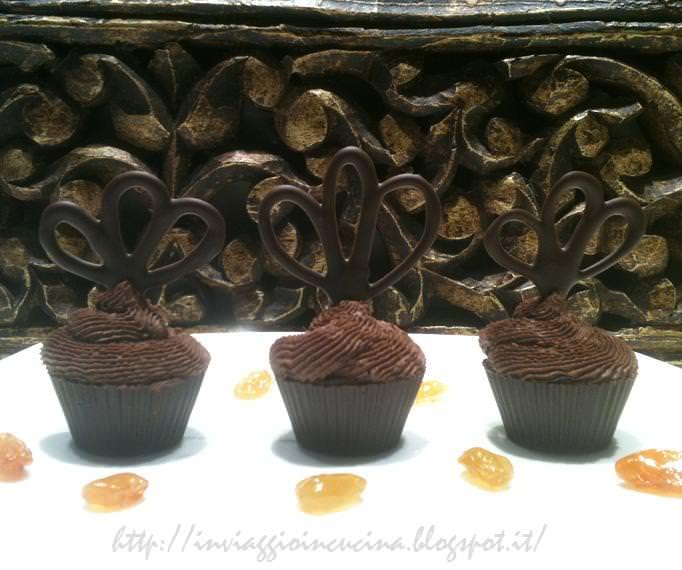 cioccomelini su piatto con uvetta caramellata