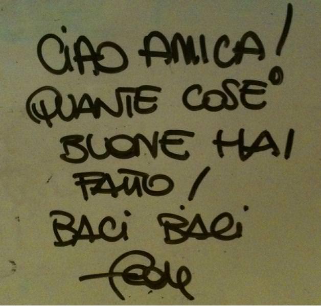 messaggio su lavagna