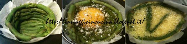istruzioni procedimento uova con asparagi