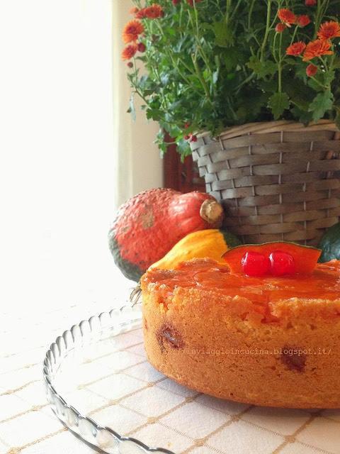 Torta rovesciata alla zucca con ginger