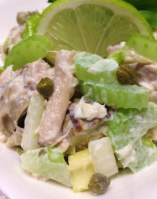 insalata di pollo sedano e lime