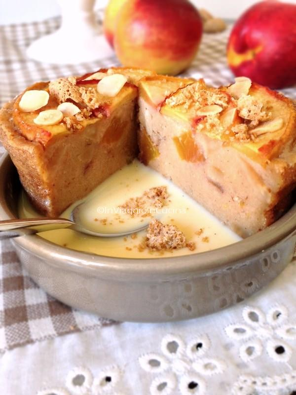 Pudding con crema inglese