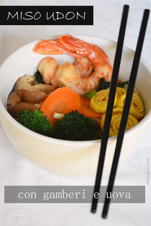 Zuppa di miso con udon