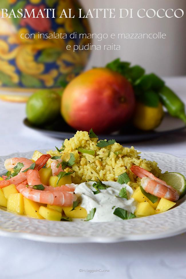 insalata di mango e mazzancolle con salsa allo yogurt