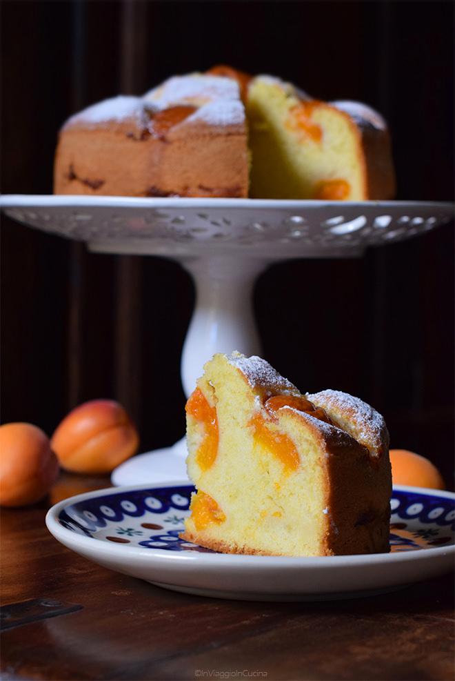 Fetta di torta di albicocche