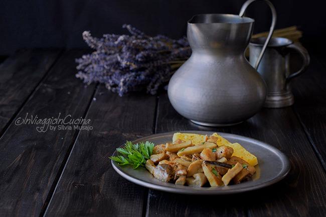 Spezzatino con porcini e polenta