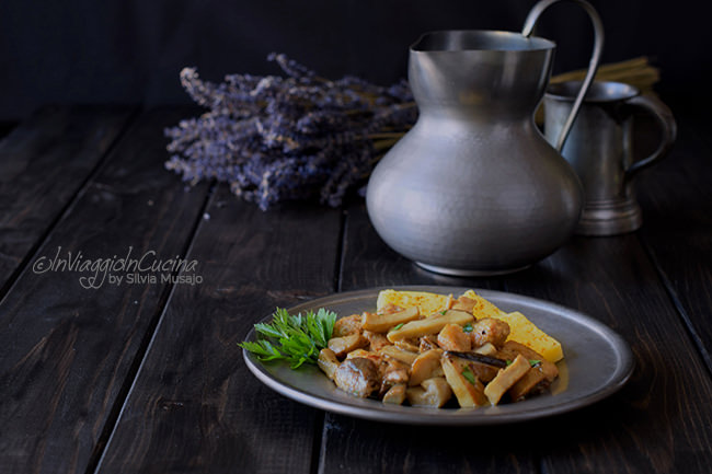 veal stew with mushrooms