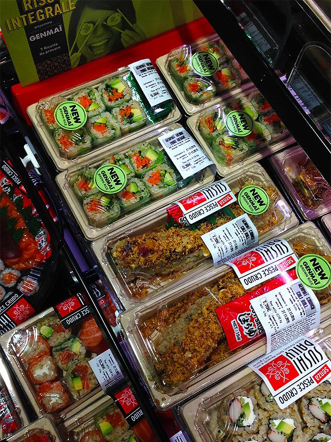 Confezioni di sushi integrale genmai