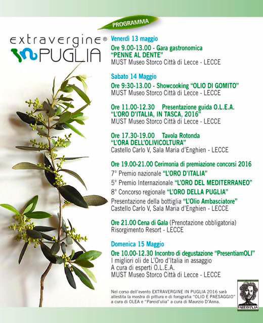 Manifesto di Extravergine in Puglia