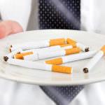 Sigarette nel piatto