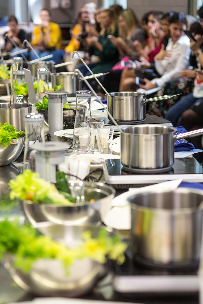 Lezione di cucina evento Grohe Blue Home