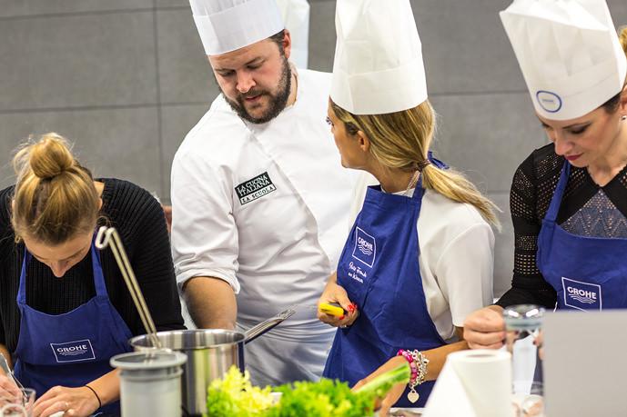 Lezione di cucina evento Grohe