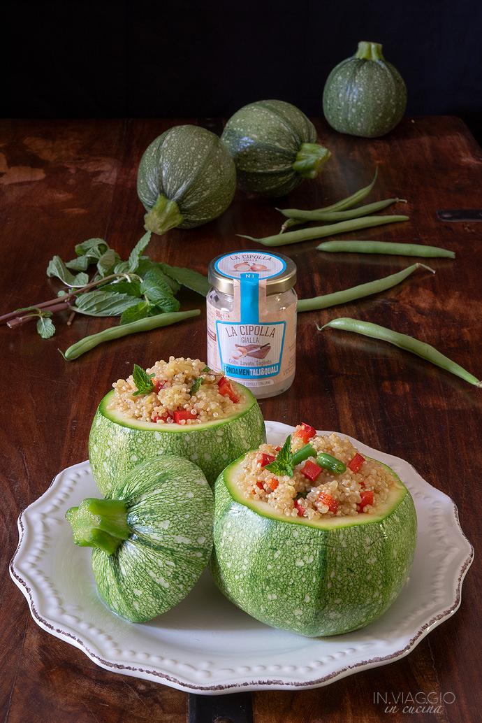 zucchine con quinoa