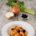 polenta gnocchi with codfish and olives