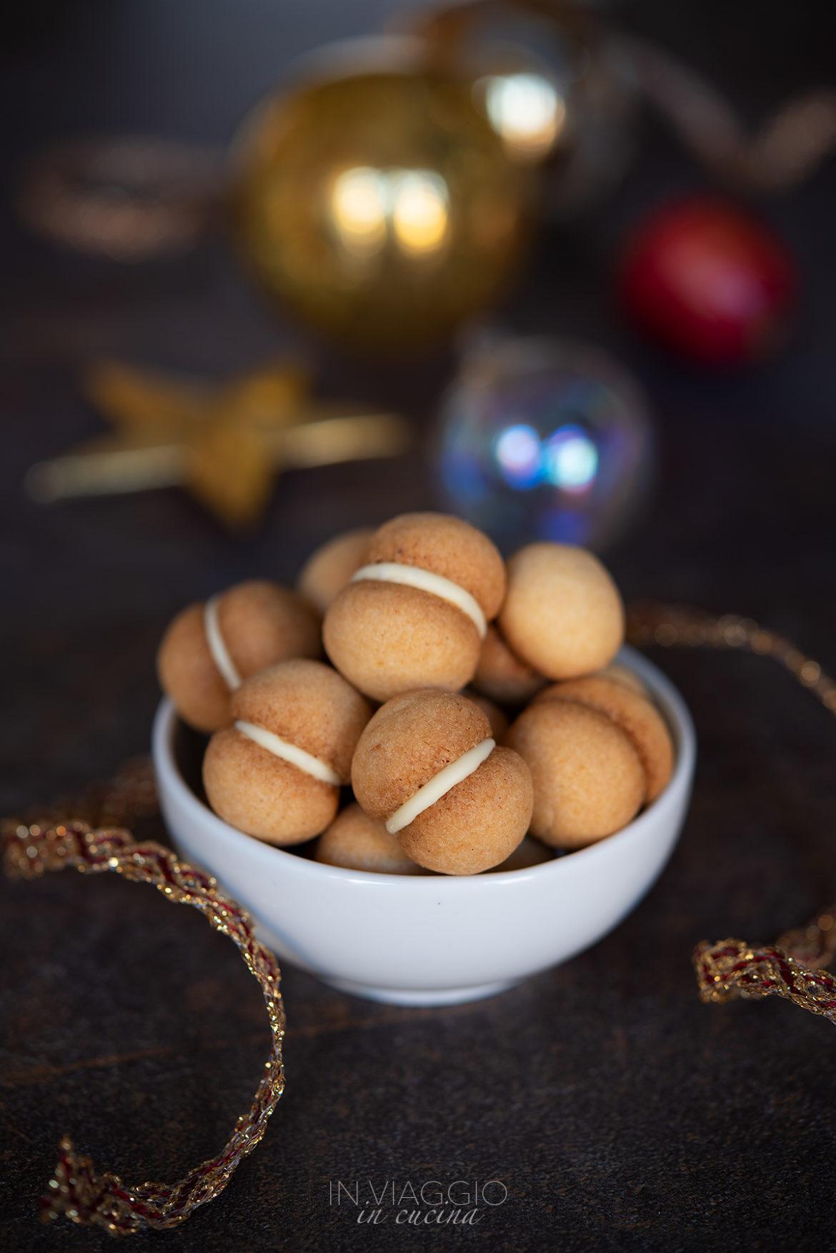 coconut baci di dama with white chocolate