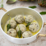 Artichoke gnudi with butter and sage