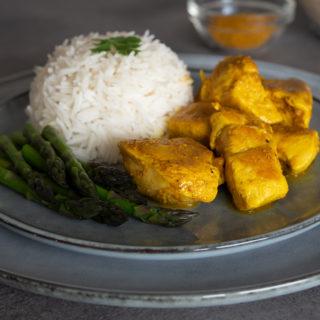 petto di pollo al curry senza grassi